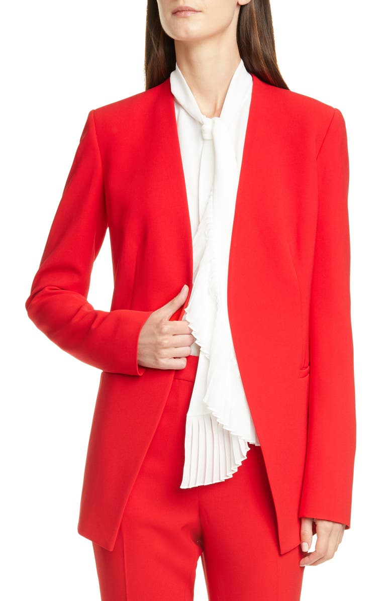 LAFAYETTE 148 NEW YORK Miranda Jacket, Main, color, RED CURRANT