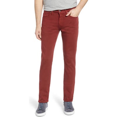 Paige Transcend Federal Slim Straight Leg Jeans, x 33 - Red
