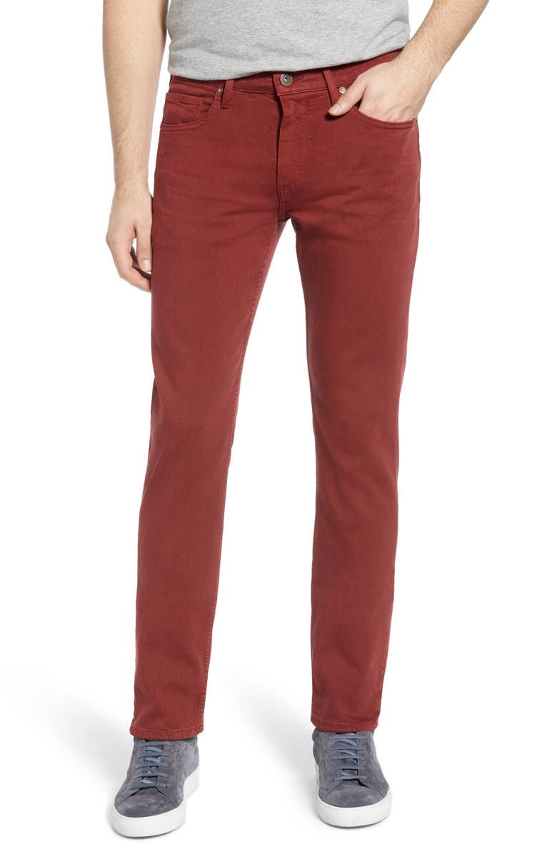 PAIGE Transcend Federal Slim Straight Leg Jeans, Main, color, VINTAGE ROASTED FIRE