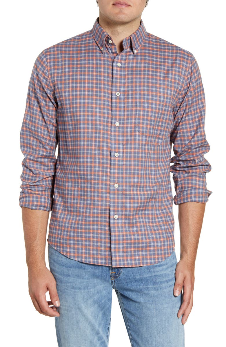 FAHERTY Everyday Regular Fit Check Button-Down Sport Shirt, Main, color, LANAI SUNSET CHECK