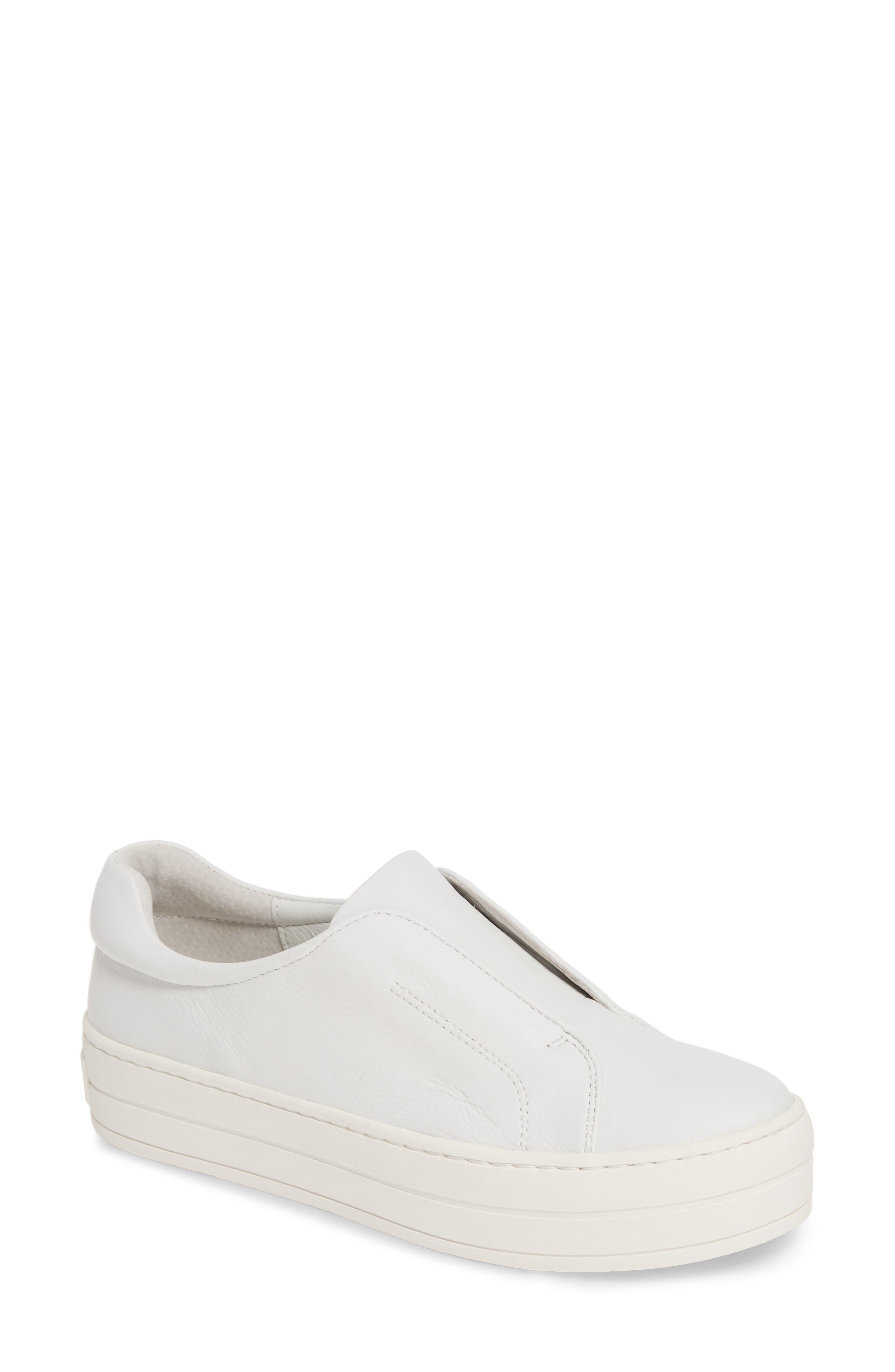 Jslides Heidi Platform Slip-On Sneaker- White