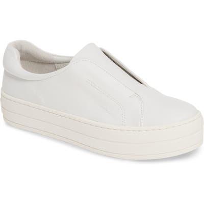 Jslides Heidi Platform Slip-On Sneaker, White