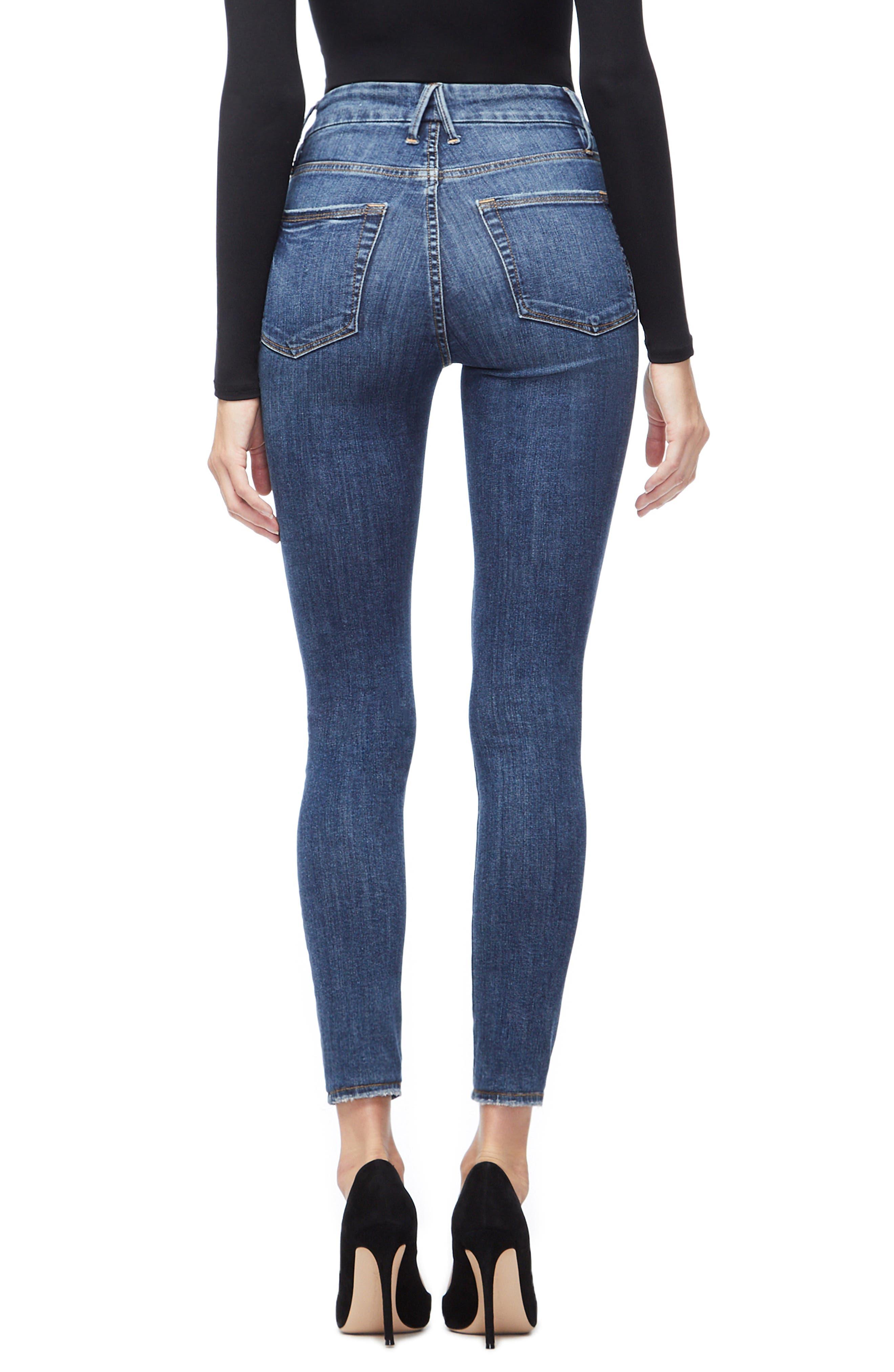,                             Good Legs High Waist Skinny Jeans,                             Alternate thumbnail 24, color,                             404