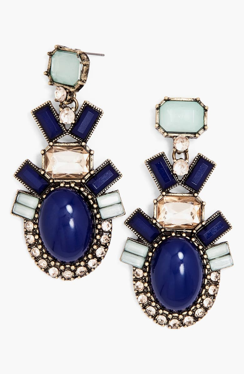 BAUBLEBAR 'Contrast Galactic' Statement Earrings, Main, color, 440