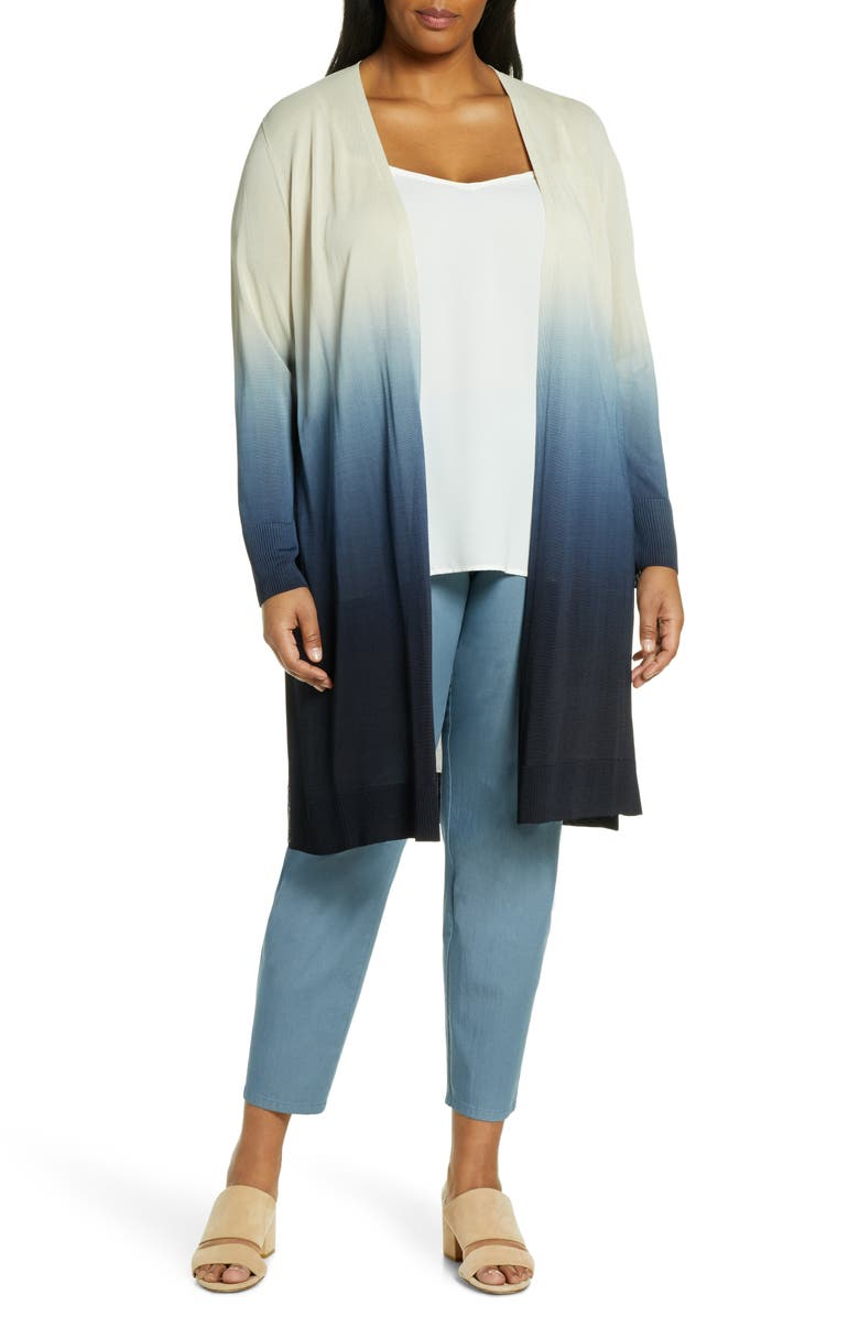 LAFAYETTE 148 NEW YORK Dip Dye Cardigan, Main, color, DELFT MULTI