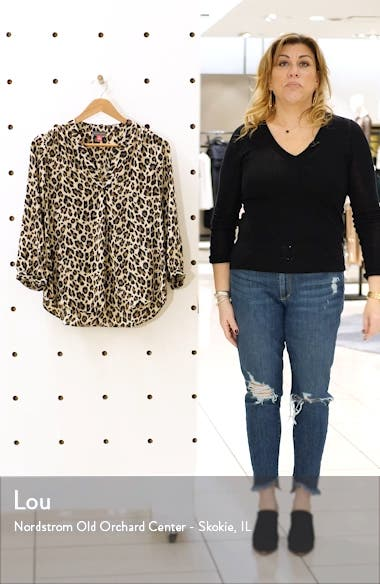 Leopard V-Neck Top, sales video thumbnail