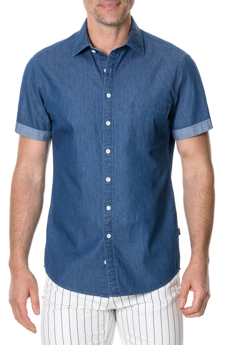 RODD & GUNN Epson Chambray Shirt, Main, color, DENIM
