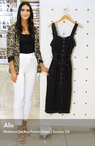 Urban Outfitters Cordelia Twill Midi Dress, sales video thumbnail