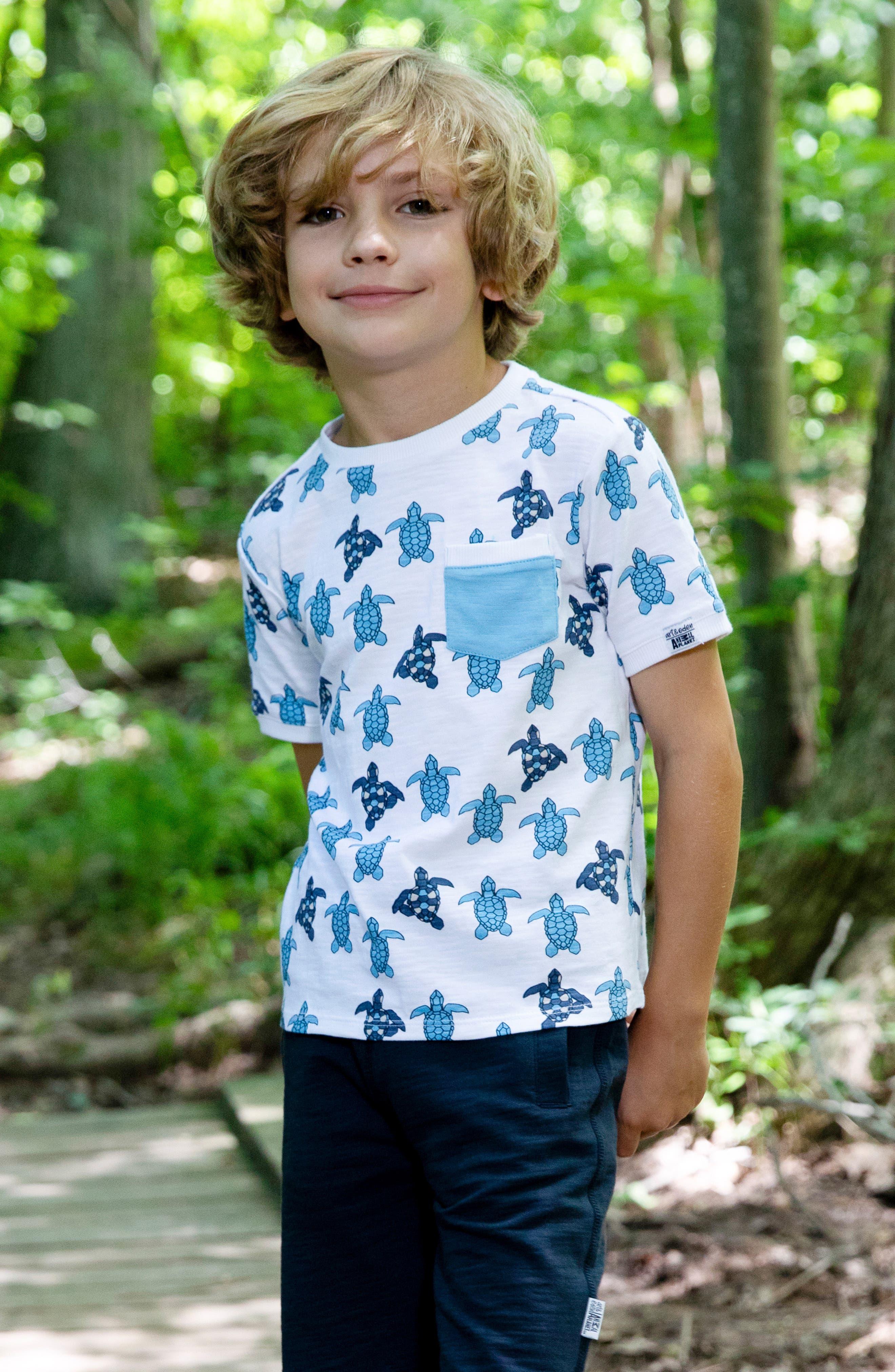 ,                             x Animal Planet Keith Organic Cotton T-Shirt,                             Alternate thumbnail 4, color,                             TURTLE GEO