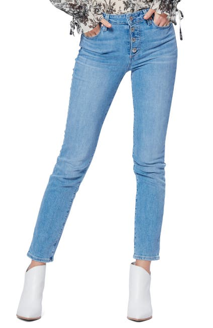 Image of PAIGE Hoxton Button Fly Slim Fit Jeans