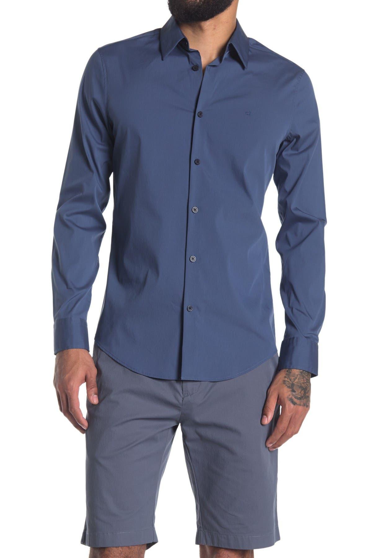 Image of Calvin Klein Stretch Cotton Sport Shirt