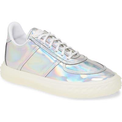 Giuseppe Zanotti Iridescent Low Top Sneaker, White