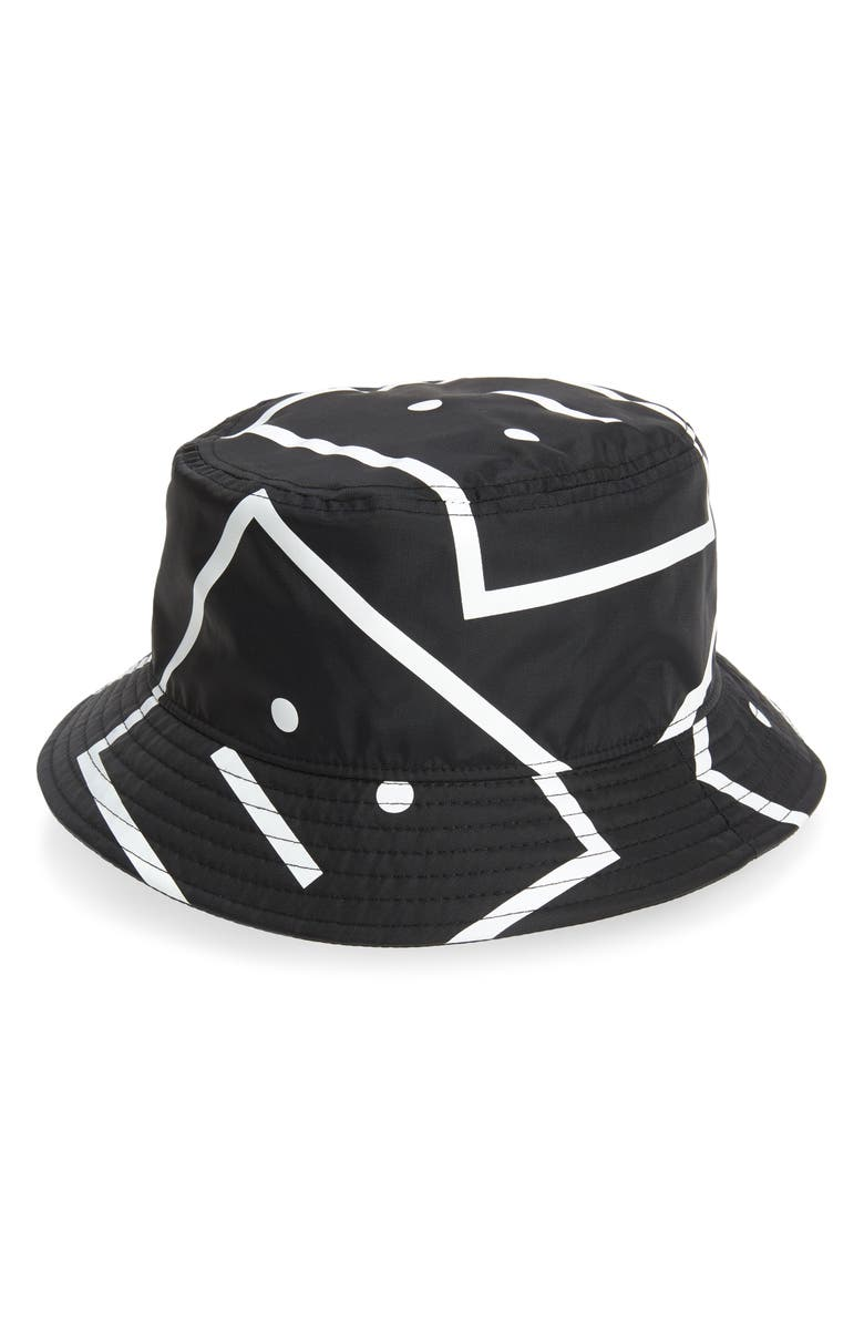 ACNE STUDIOS Acne Face Print Bucket Hat, Main, color, 001