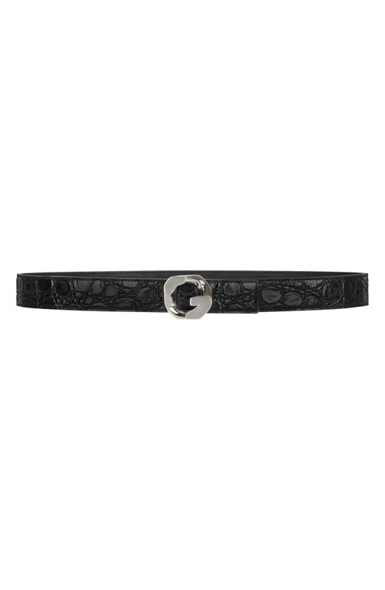 Givenchy G BUCKLE LEATHER BELT