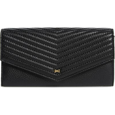 Ted Baker London Anais Quilted Envelope Crossbody Bag - Black