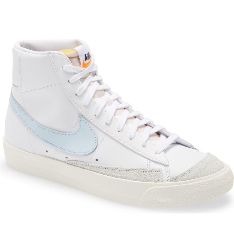 NIKE Blazer Mid '77 Vintage Sneaker, Main, color, WHITE/ CELESTINE BLUE/ SAIL