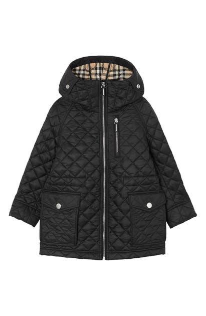 Burberry Boys' Trey Quilted Hooded Jacket - Little Kid, Big Kid In Black