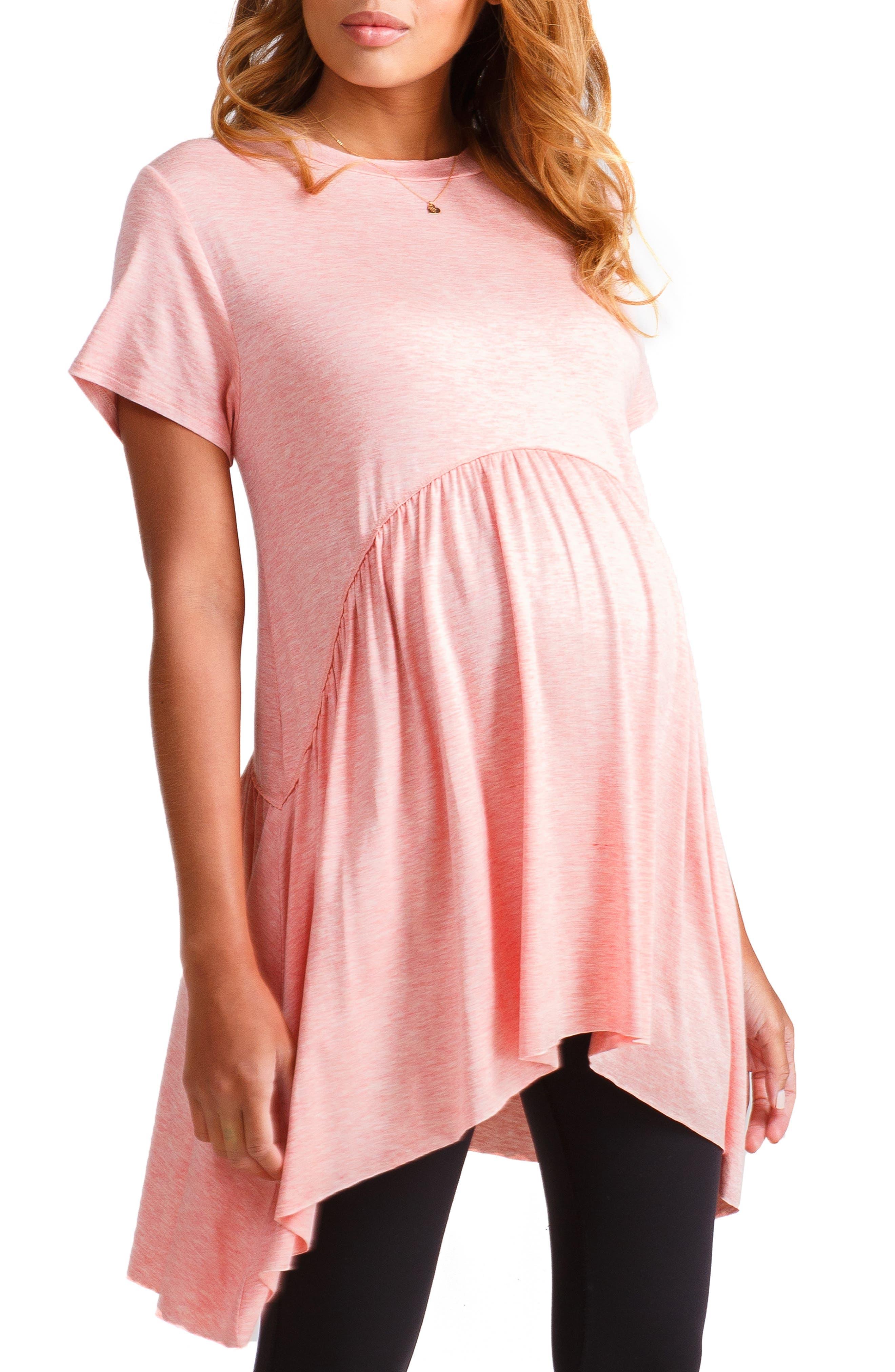 ,                             Handkerchief Hem Maternity Tunic,                             Main thumbnail 4, color,                             251
