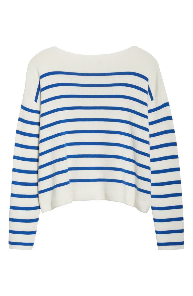 ENTIREWORLD Type A Version 8 Boatneck Sweater, Main, color, WHITE BLUE