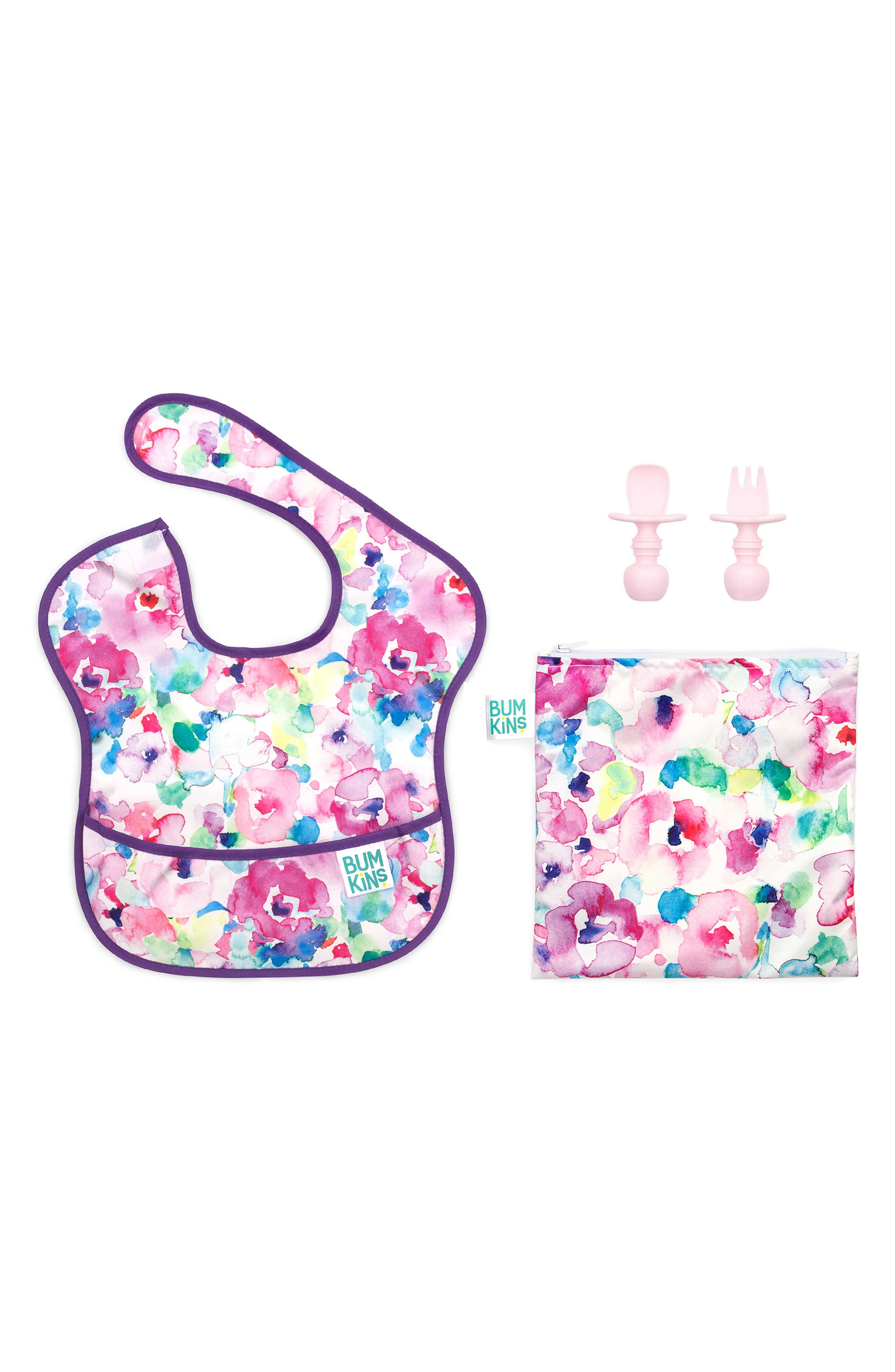 Infant Girls Bumkins The Littles Who Lunch  Watercolor Bundle Size One Size  Pink