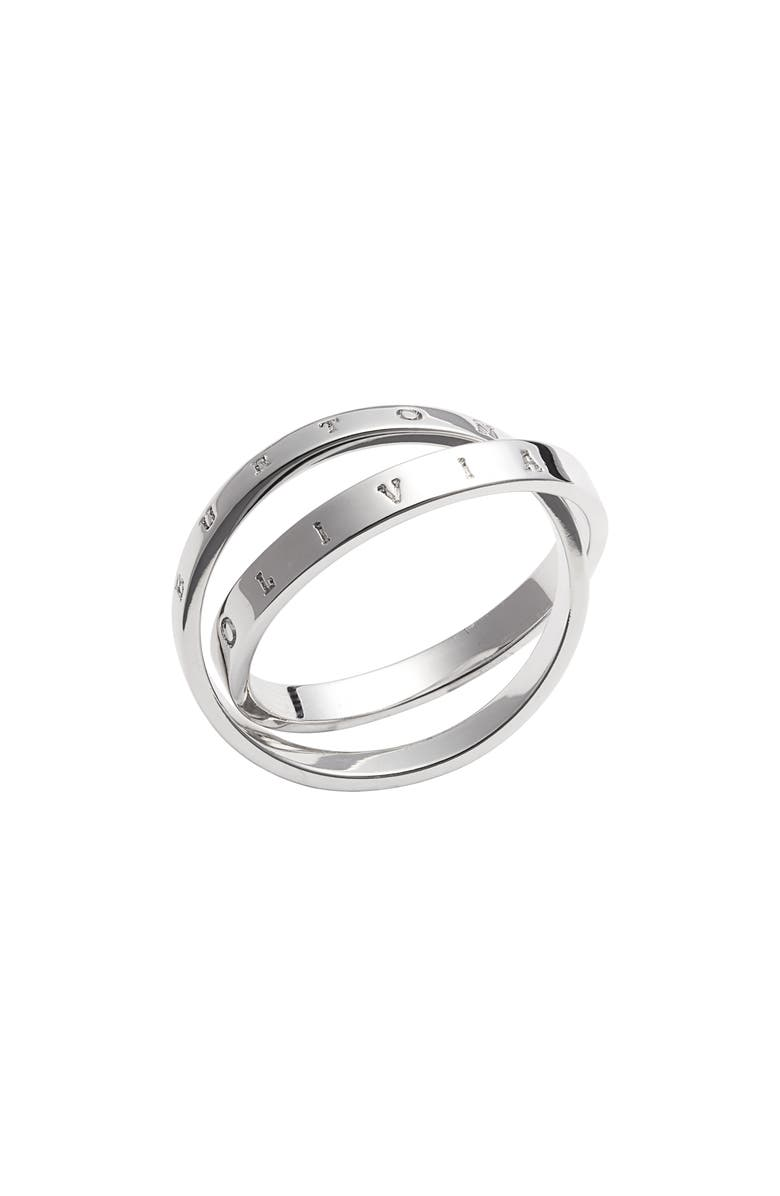 OLIVIA BURTON Interlink Ring, Main, color, SILVER