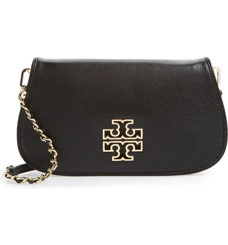 TORY BURCH 'Britten' Convertible Clutch, Main, color, 001