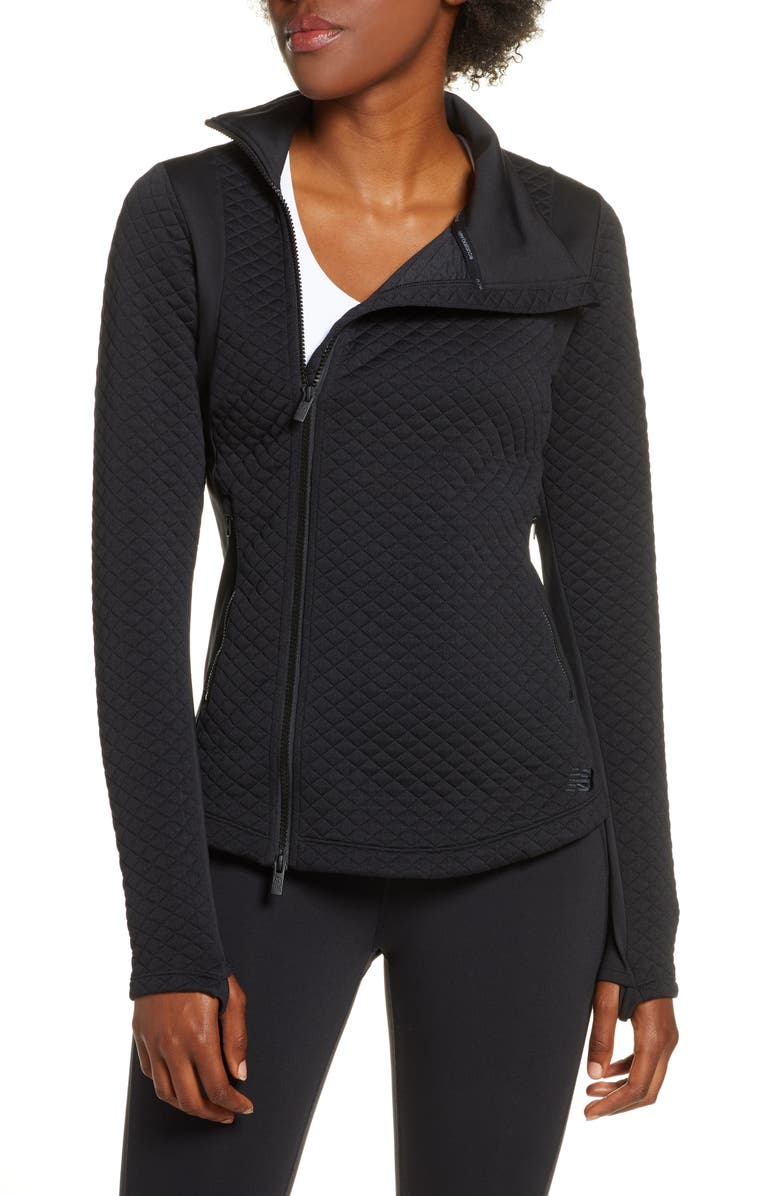 NEW BALANCE Heat Loft Quilted Jacket, Main, color, BLACK