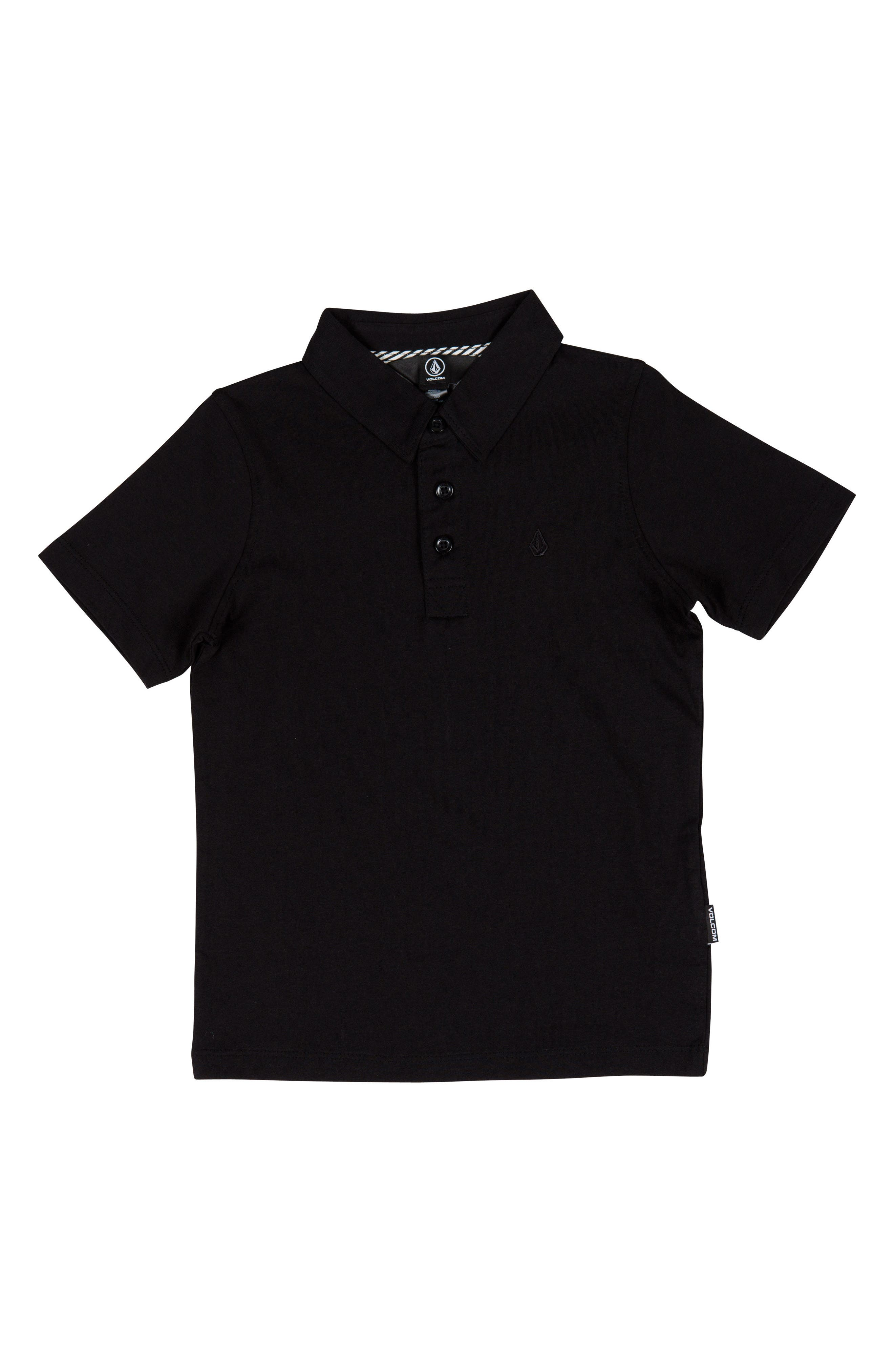 Boys Volcom Wowzer Polo Size 5  Black