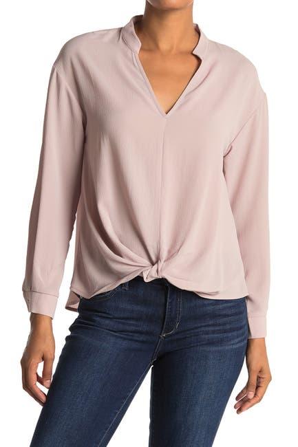 Image of Lush Twist Front Long Sleeve Blouse
