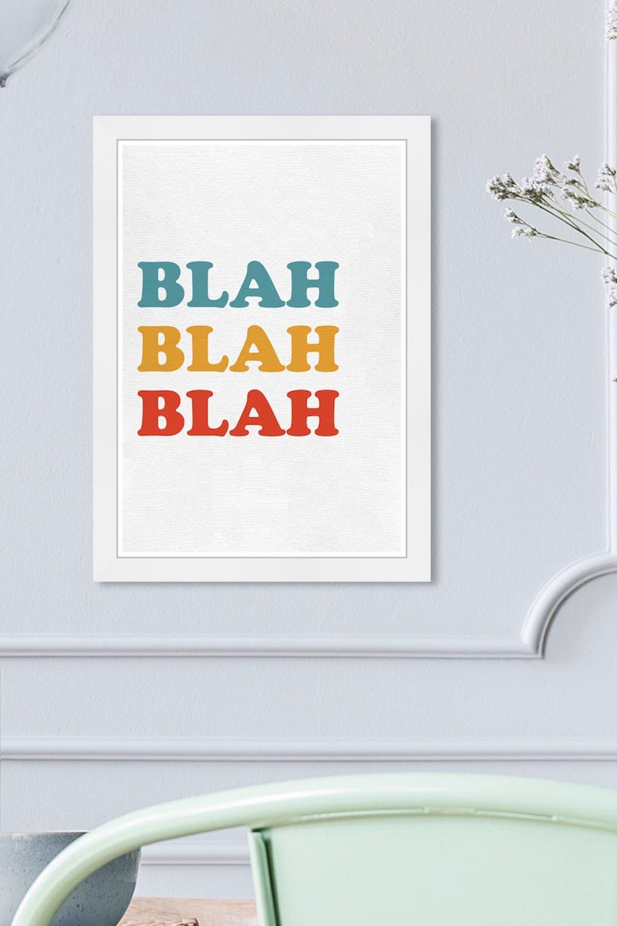 Image of Wynwood Studio Blah Blah Blah White Framed Wall Art