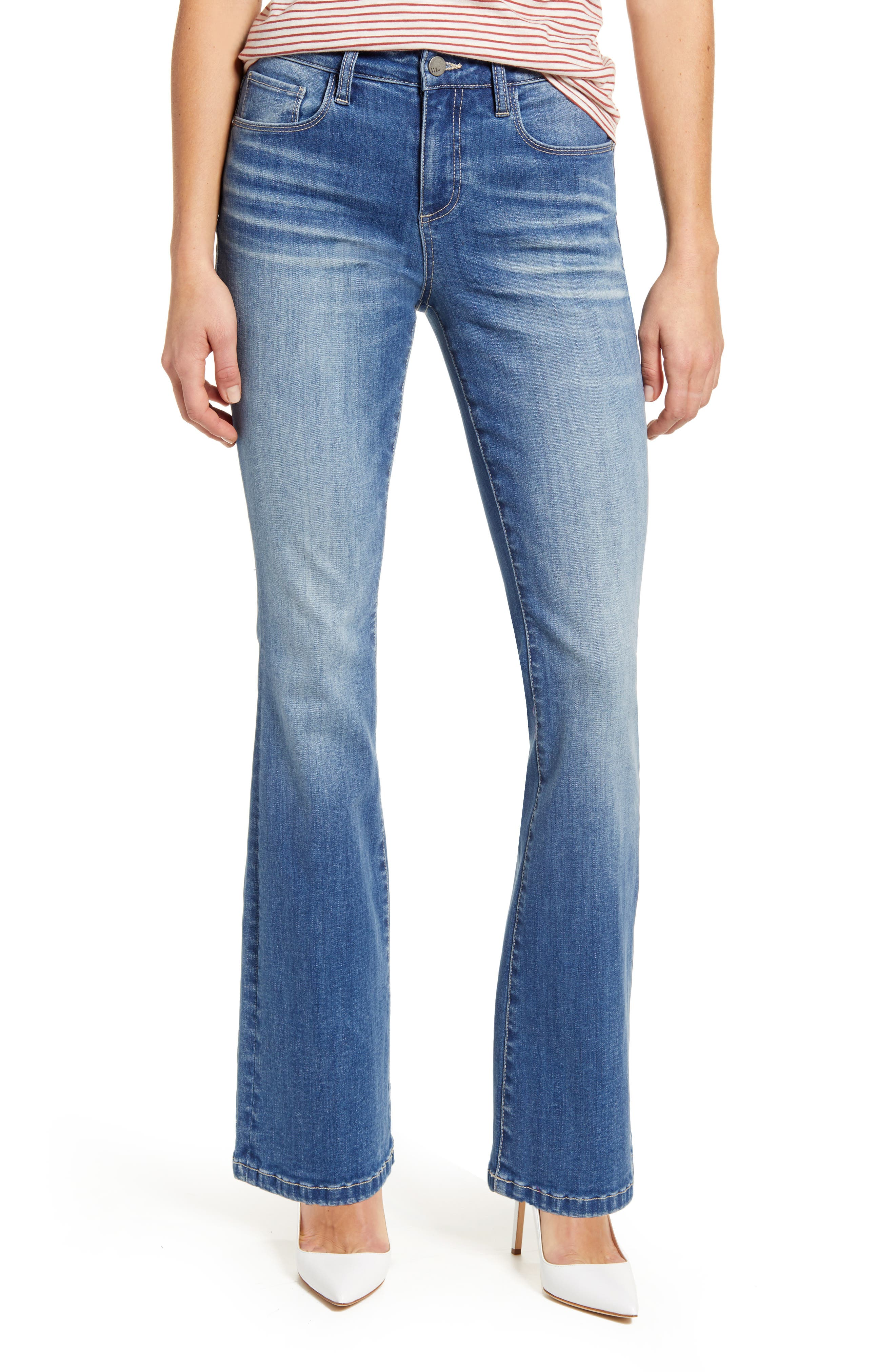 Women's Wash Lab Flare Leg Jeans