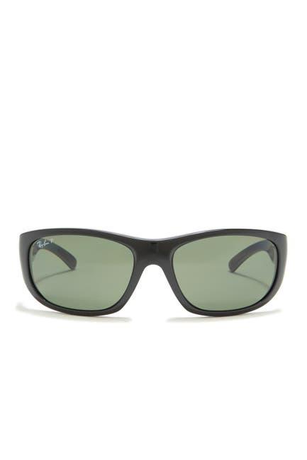 Image of Ray-Ban 63mm Polarized Wrap Sunglasses