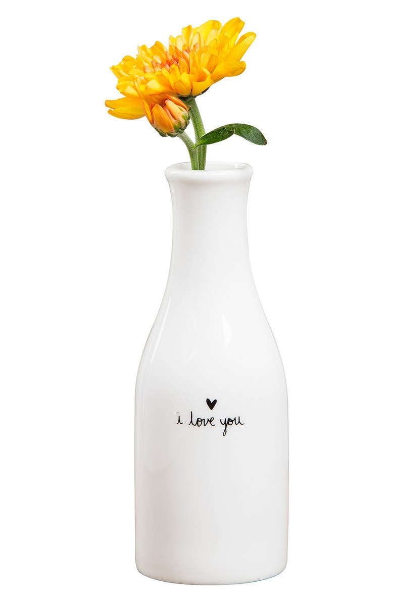 NATURAL LIFE 'I Love You' Bud Vase, Main, color, 100