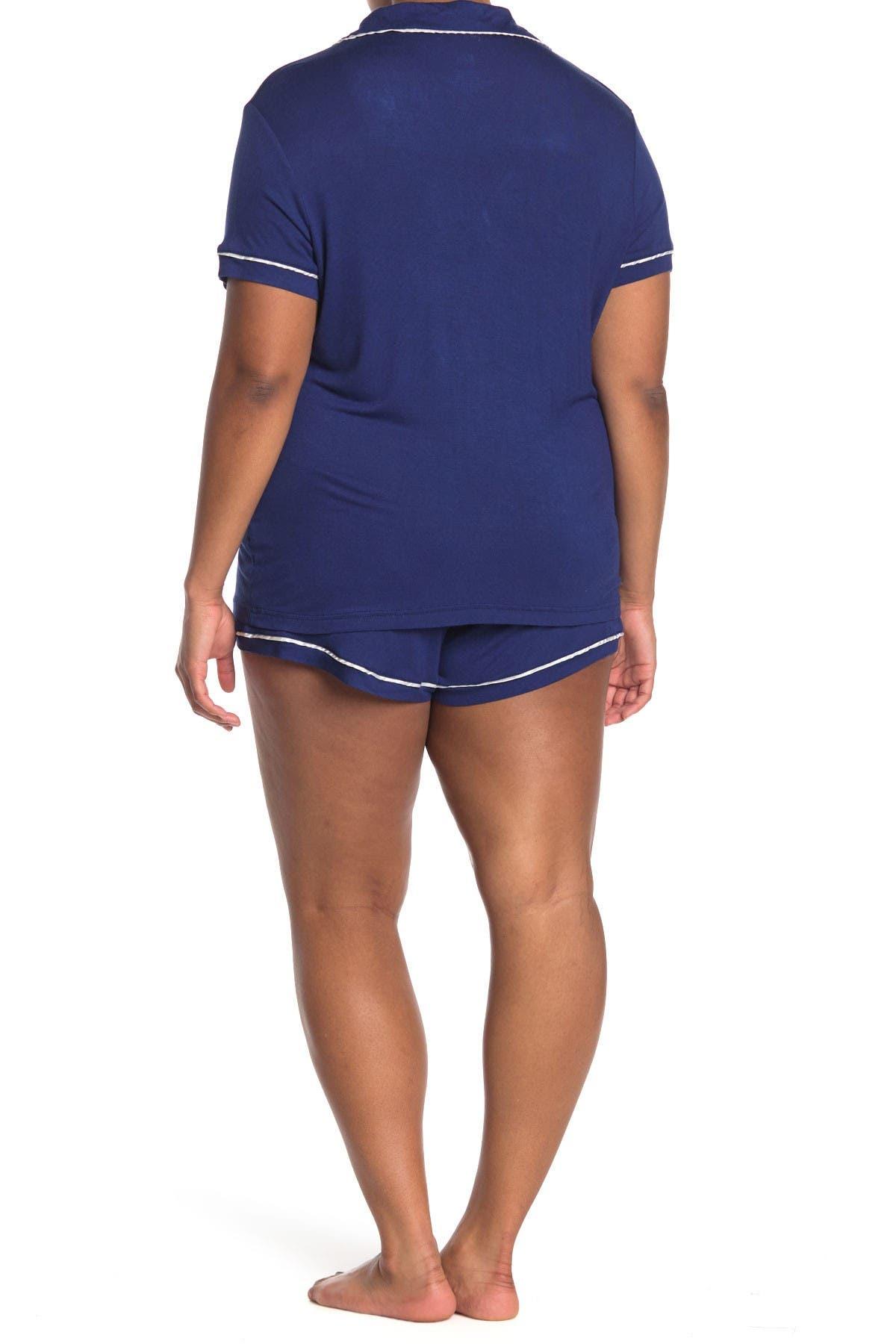 Image of Blis Notch Collar Pajama 2-Piece Set