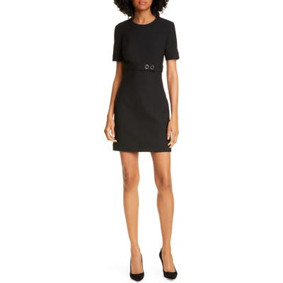 A.l.c. Elaine Belted Minidress, Black