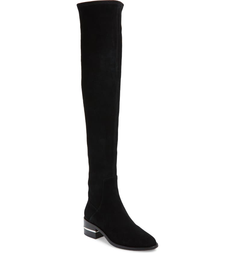 PAIGE Jacey Over the Knee Stretch Boot, Main, color, BLACK