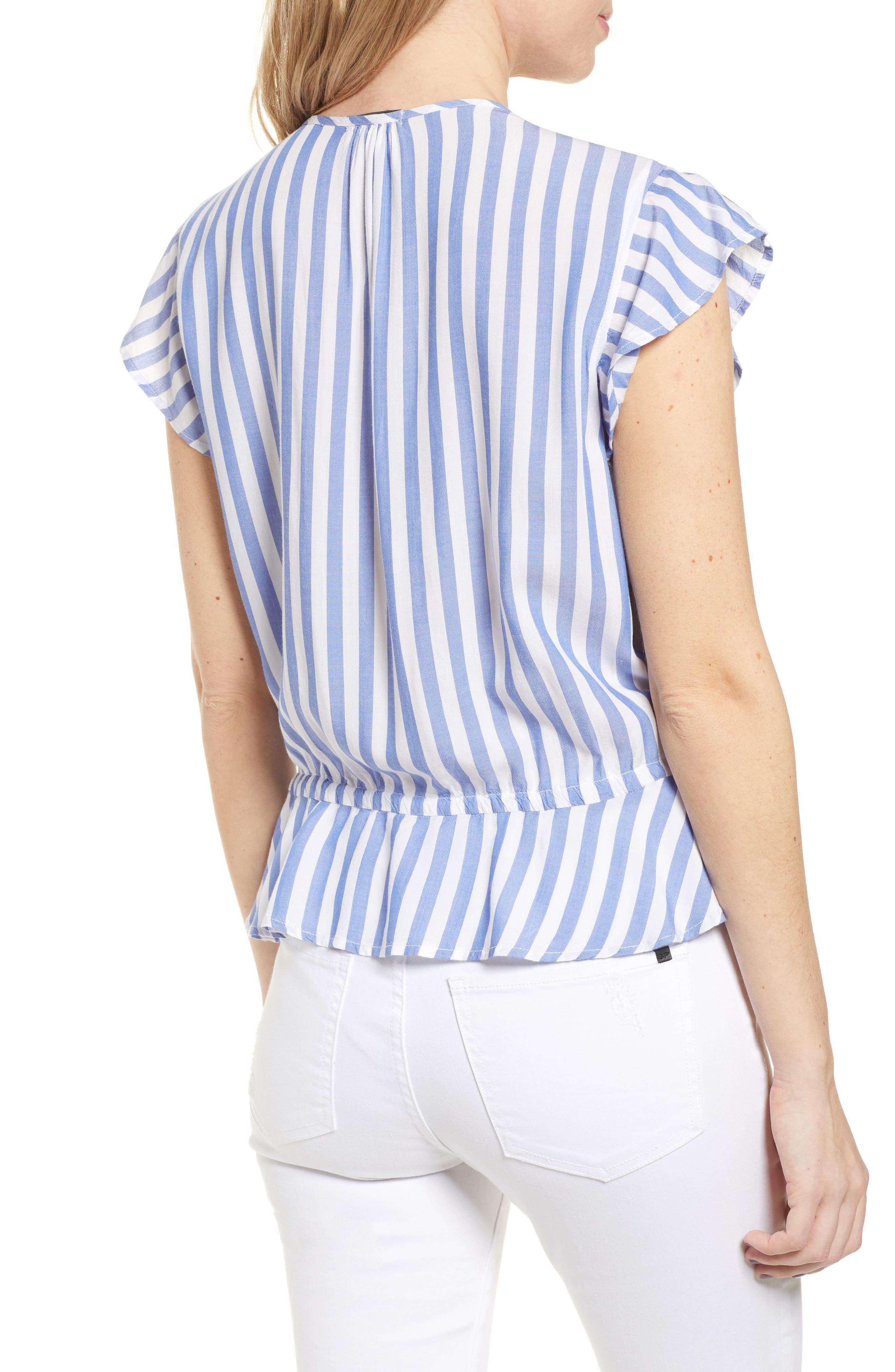 ,                             Ruffle Shirt,                             Alternate thumbnail 2, color,                             MONACO STRIPE