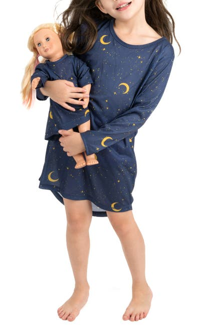 Image of Leveret Moon Nightgown & Matching Doll Nightgown