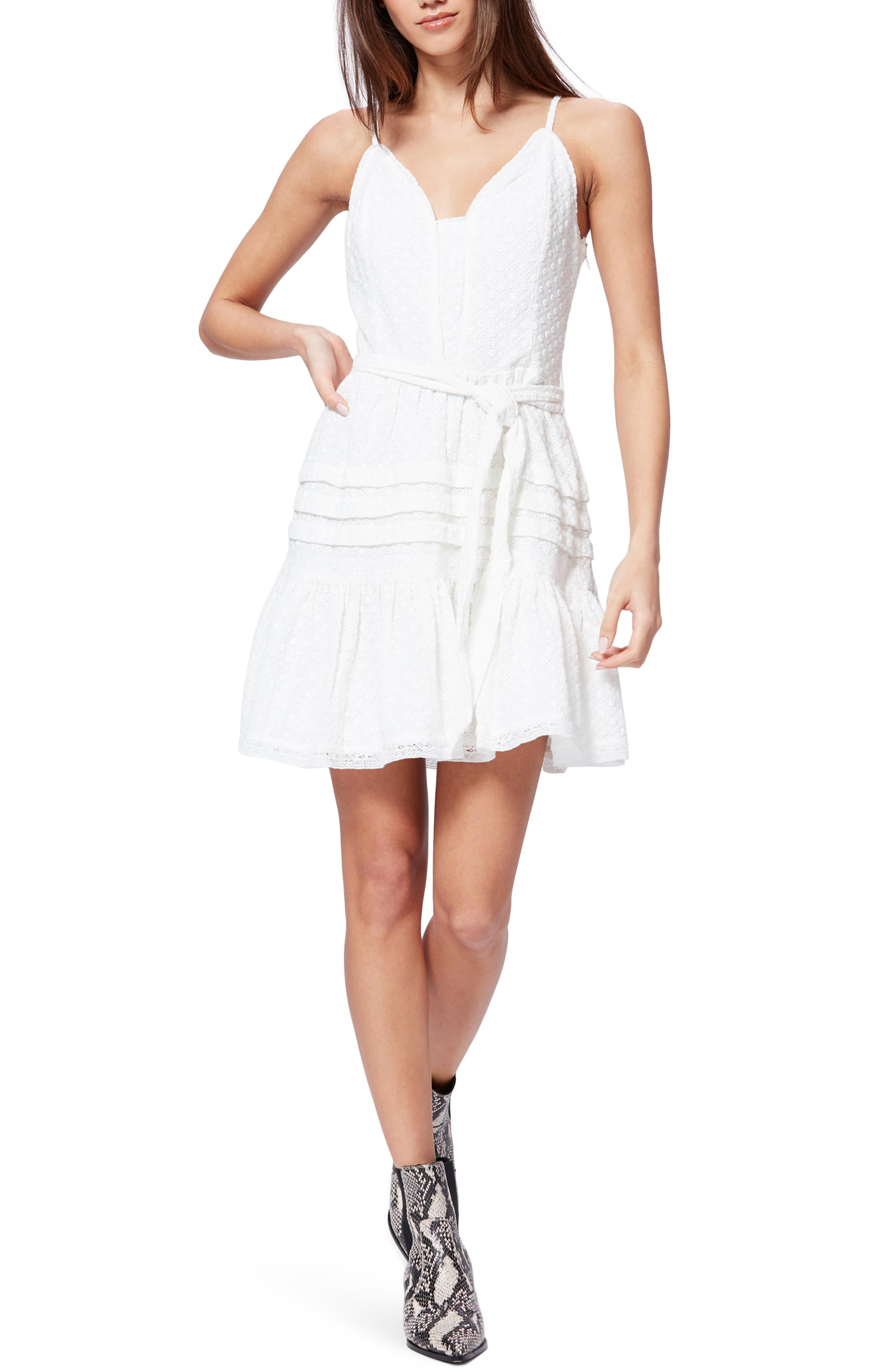 Paige Nahla Eyelet Sundress In White