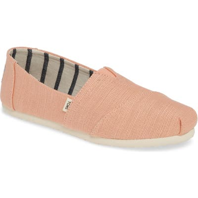 Toms Classic Canvas Slip-On, Coral