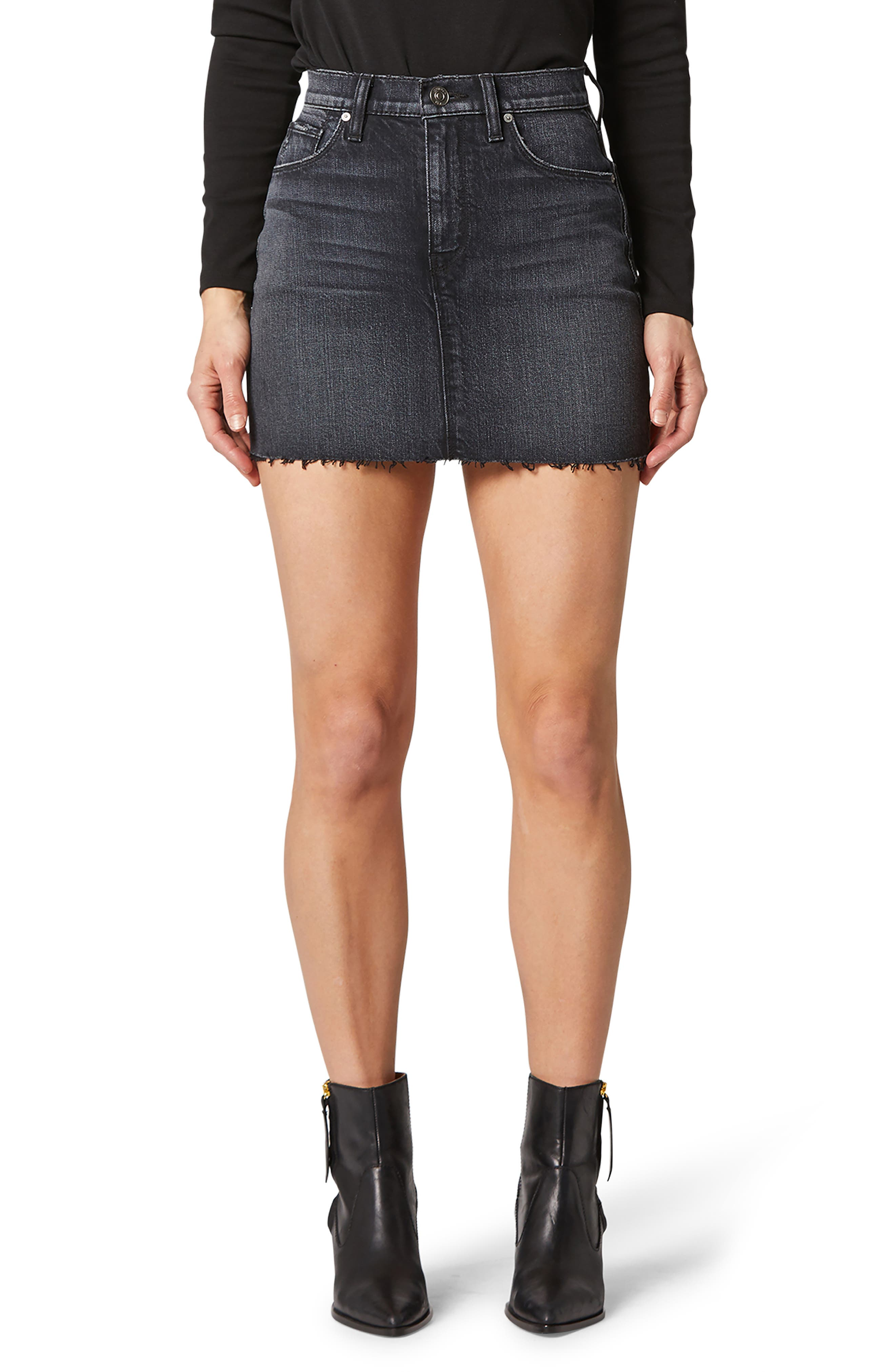 This edgy cutoff mini earns big style points when taking a daytime stroll or enjoying a night on the town. Style Name: Hudson Jeans The Viper Cutoff Denim Miniskirt. Style Number: 6011125. Available in stores.