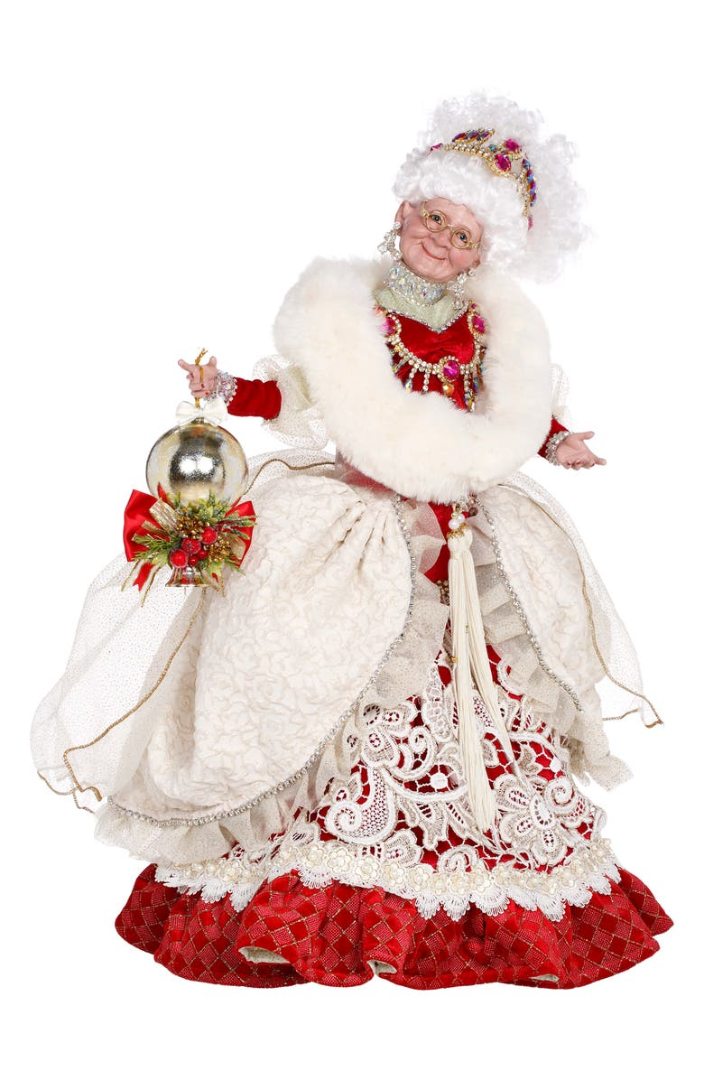 MARK ROBERTS Gracious Greeting Mrs. Claus Figurine, Main, color, RED MULTI