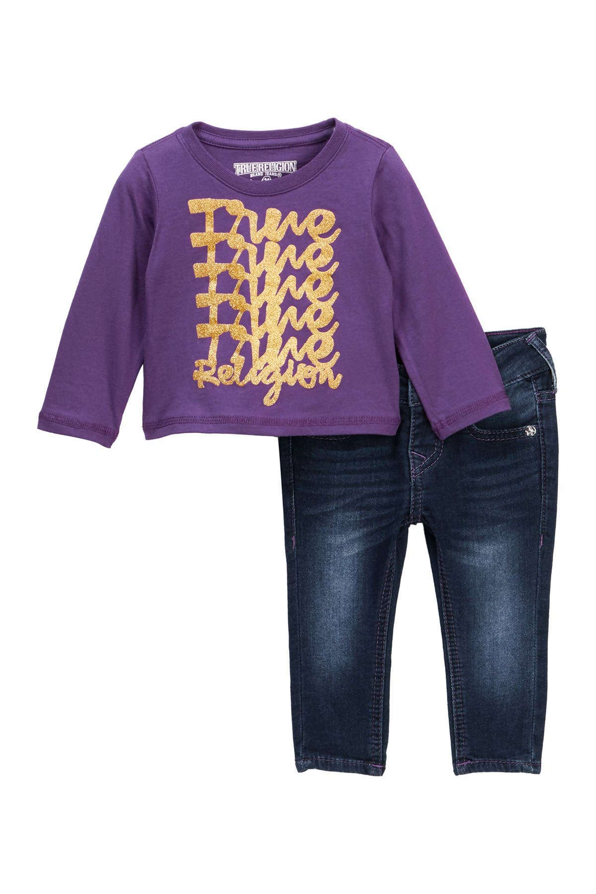 Image of True Religion Long Sleeve T-Shirt & Jeans Set