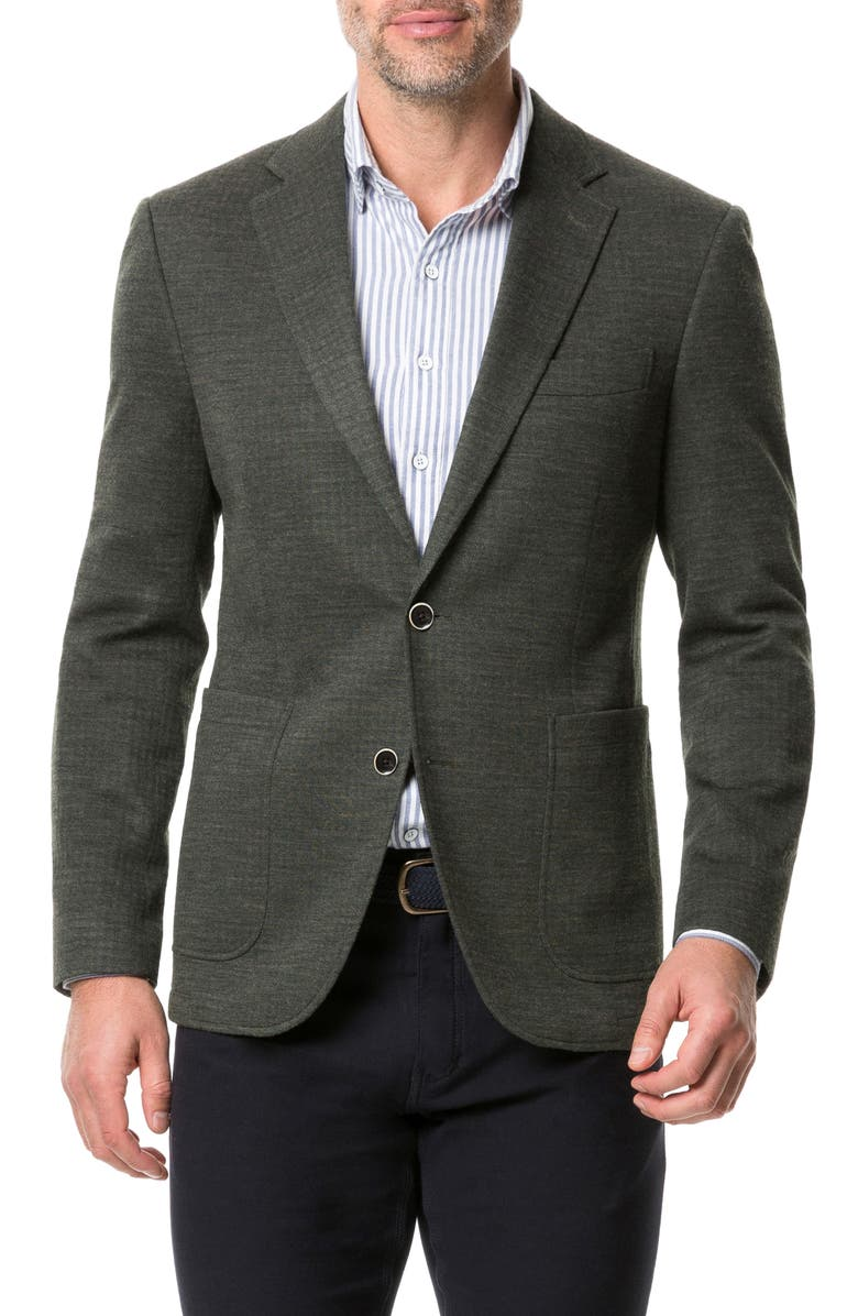 RODD & GUNN Anchorage Regular Fit Stretch Wool Blend Sport Coat, Main, color, FOREST
