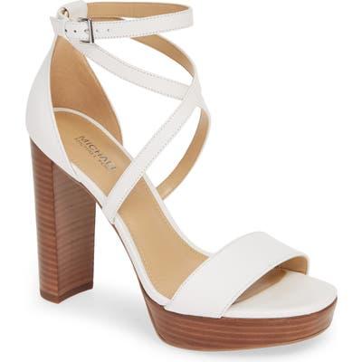 Michael Michael Kors Charlize Strappy Platform Sandal- White