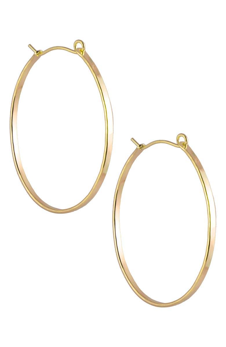 NASHELLE Barrel Hoop Earrings, Main, color, GOLD