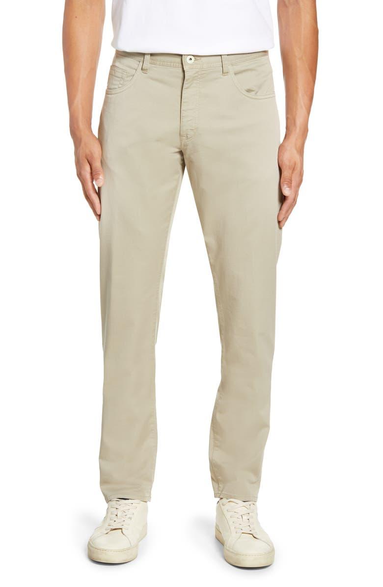 ROBERT GRAHAM Seaton Regular Fit Straight Leg Pants, Main, color, KHAKI