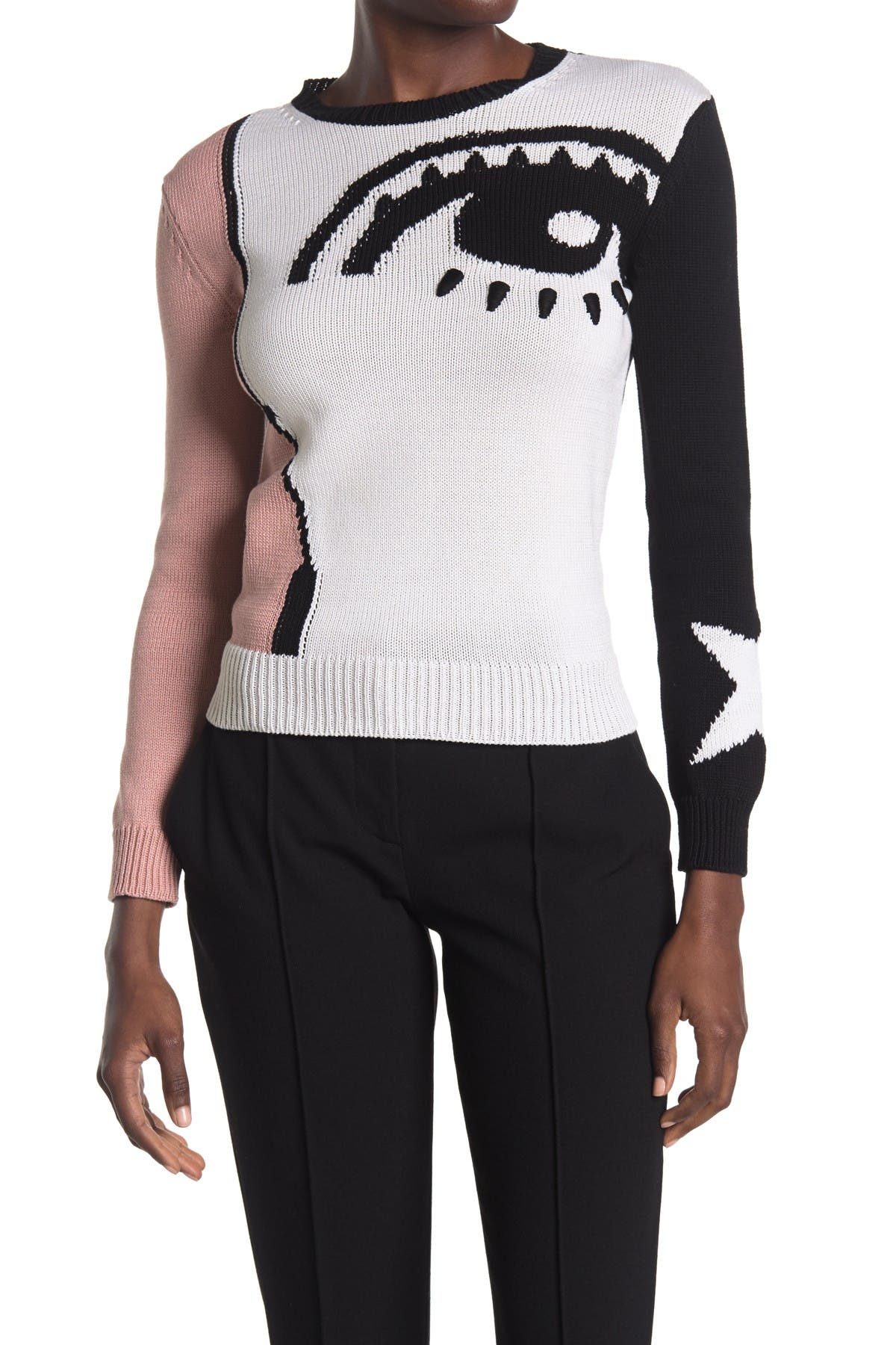 Image of RED Valentino Maglia Abstract Print Sweater