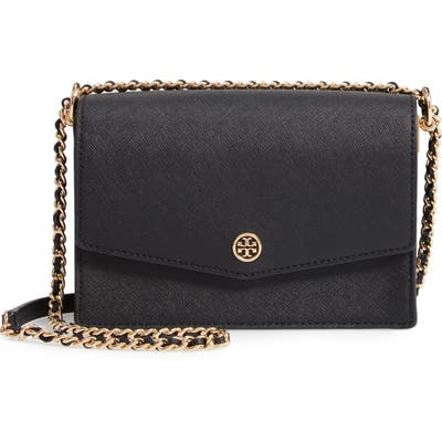 Tory Burch Mini Robinson Convertible Leather Shoulder Bag -