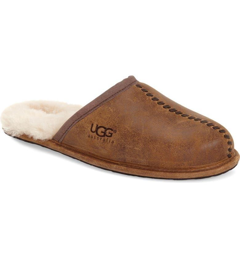14620582d02 Scuff - Deco Genuine Shearling Slipper